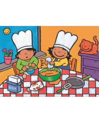 Puzzle PuzzelMan - Noa: In the kitchen, 16 piese XXL (43364)