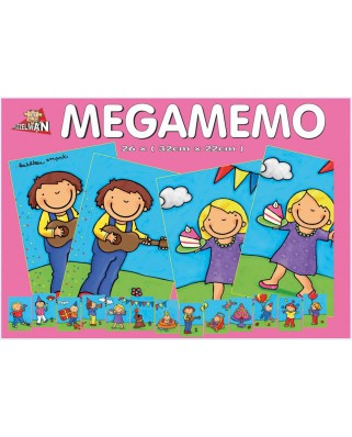 Puzzle PuzzelMan - Noa: Memo Games, 26 piese XXL (43351)