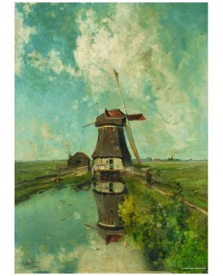 Puzzle PuzzelMan - Paul Gabriel: Collection Rijksmuseum Amsterdam - The Mill, 1.000 piese (43147)