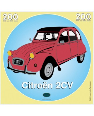Puzzle PuzzelMan - Rosies Factory: Citroen 2 CV, 200 piese (43232)
