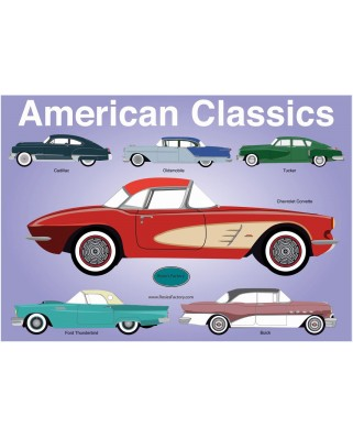 Puzzle PuzzelMan - Rosies Factory: The American Classic, 1.000 piese (43234)