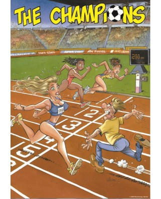 Puzzle PuzzelMan - The Champion : The 200 Meters Finish, 1.000 piese (2254)