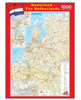 Puzzle PuzzelMan - The Netherlands, 1.000 piese (1987)