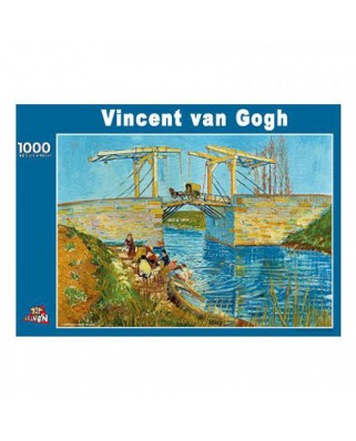 Puzzle PuzzelMan - Vincent Van Gogh: The Langlois Bridge at Arles, 1.000 piese (1944)