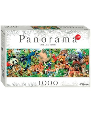 Puzzle panoramic Step - World of Animals, 1.000 piese (60313)