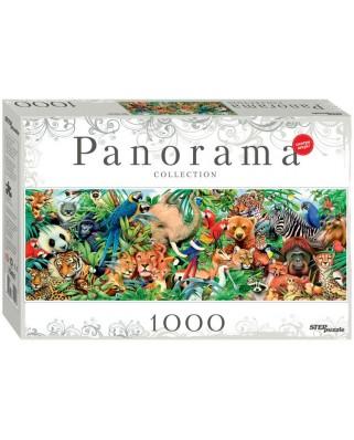 Puzzle panoramic Step - World of Animals, 1.000 piese (60313)