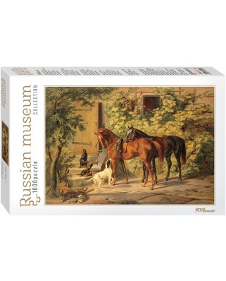Puzzle Step - Adam Albrecht: Horses at the Porch, 1.000 piese (60307)