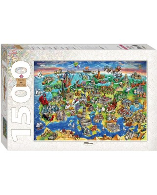 Puzzle Step - Attractions of Europe, 1.500 piese (60348)
