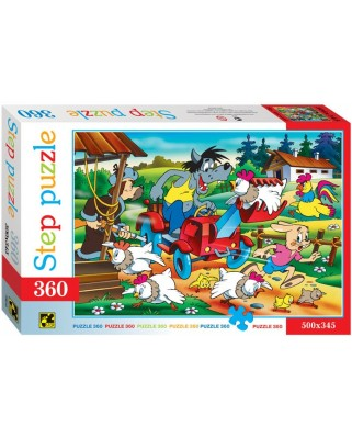 Puzzle Step - Crazy Tractor, 360 piese (63741)