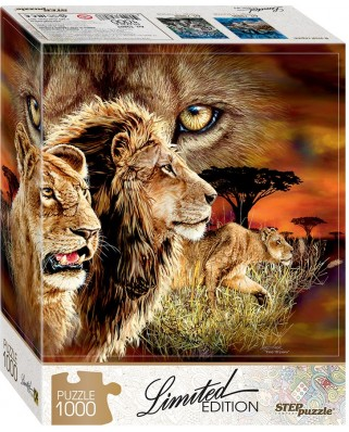 Puzzle Step - Find 10 Lions!, 1.000 piese (61494)