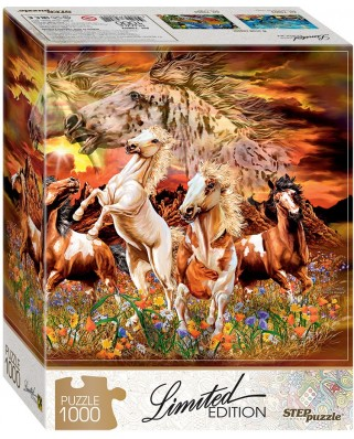 Puzzle Step - Find 12 Horses!, 1.000 piese (61490)