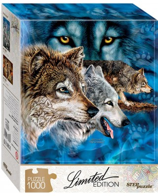 Puzzle Step - Find 12 Wolves!, 1.000 piese (61493)