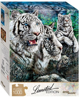 Puzzle Step - Find 13 Tigers!, 1.000 piese (61495)