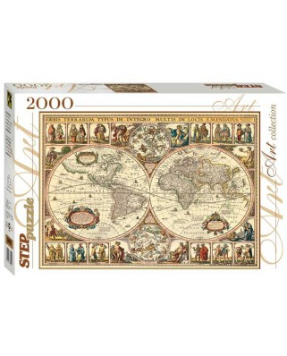 Puzzle Step - Historical Map of the World, 2.000 piese (60356)