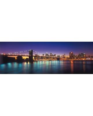 Puzzle panoramic Schmidt - Luminile New Yorkului, 1.000 piese (58282)