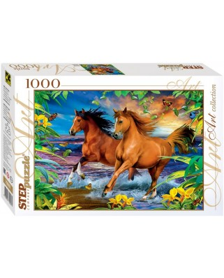 Puzzle Step - Horses, 1.000 piese (60285)