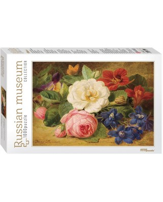Puzzle Step - Josef Lauer: Bouquet of Flowers with a Snail, 1.000 piese (60304)