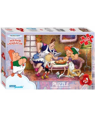 Puzzle Step - Karlsson-on-the-Roof, 560 piese (63760)