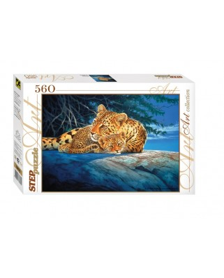 Puzzle Step - Leopards, 560 piese (60267)