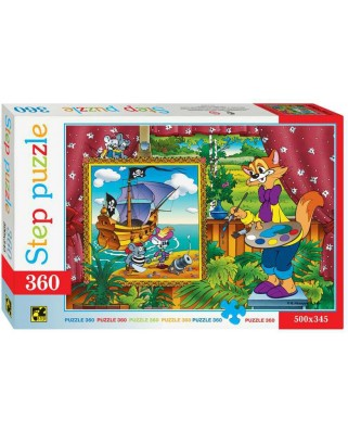 Puzzle Step - Leopold the Cat, 360 piese (63743)