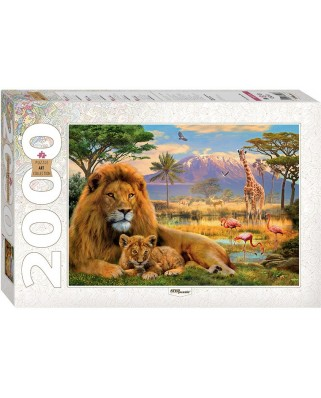 Puzzle Step - Lions, 2.000 piese (60362)
