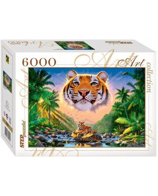 Puzzle Step - Magnificent Tiger, 6.000 piese (63731)