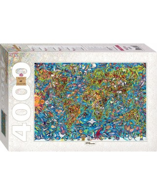 Puzzle Step - Map of the World, 4.000 piese (60375)
