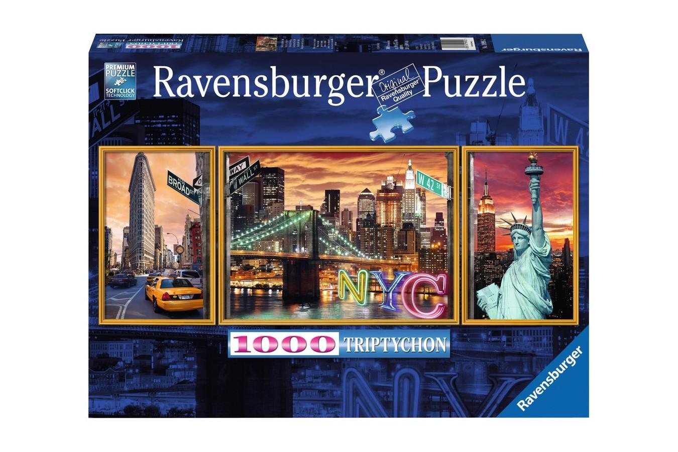 Puzzle Ravensburger - New Yorkul Irizant, 1000 piese (19995)