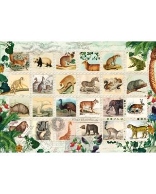 Puzzle Schmidt - Colectie de timbre cu animale salbatice, 1.000 piese (58285)