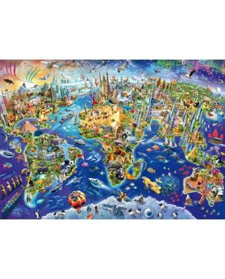 Puzzle Schmidt - Descoperim lumea, 1000 piese (58288)