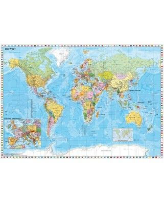 Puzzle Schmidt - Harta lumii, 1.500 piese (58289)