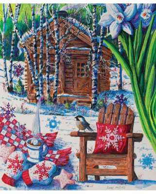Puzzle SunsOut - Diane Phalen: Mountain Cabin Fever, 550 piese (63896)