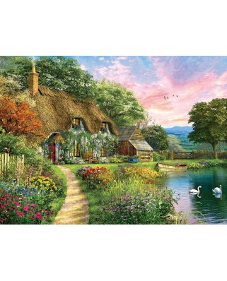 Puzzle SunsOut - Dominic Davison: Sunset Country Cottage, 1.000 piese (64239)