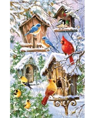 Puzzle SunsOut - Dona Gelsinger: Snow Birds, 550 piese (64234)