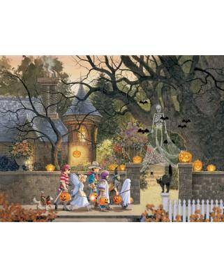Puzzle SunsOut - Douglas Laird: Friends on Halloween, 1.000 piese (64163)