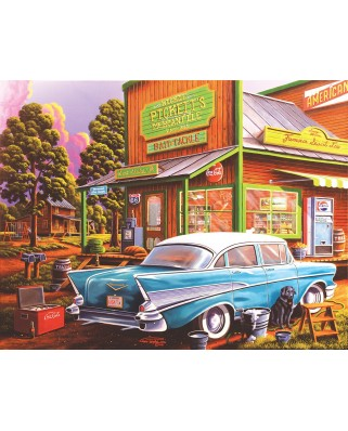 Puzzle SunsOut - Geno Peoples - Aunt Sheila's Cafe, 1.000 piese XXL (64168)
