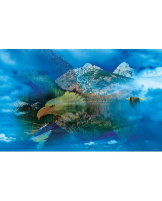 Puzzle SunsOut - Gordon Semmens: Eagle Dreamscape, 550 piese (64157)