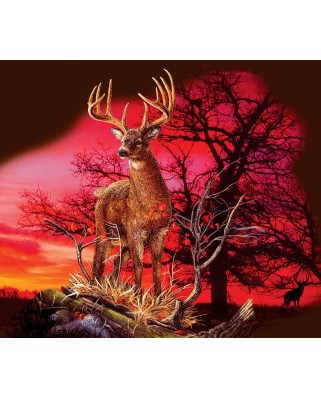 Puzzle SunsOut - Gordon Semmens: Red Sunset, 550 piese (64156)