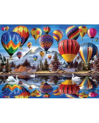 Puzzle SunsOut - Howard Robinson: Hot Air Balloons, 1.000 piese (64210)