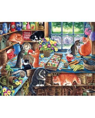 Puzzle SunsOut - Irina Garmashova-Cawton: In a Garden Shed, 1.000 piese XXL (64055)