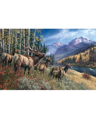 Puzzle SunsOut - James A. Meger: Elk Anthem, 1000 piese (44982)