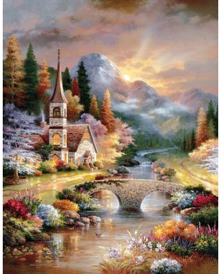 Puzzle SunsOut - James Lee: A Country Evening Service, 1.000 piese XXL (63903)