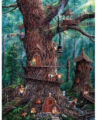 Puzzle SunsOut - Jeff Tift: Forest Gnomes, 1.000 piese XXL (64027)