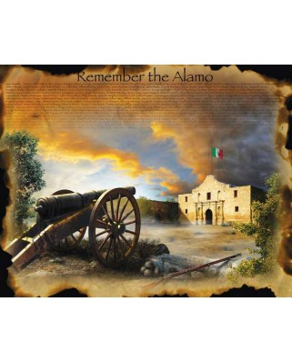 Puzzle SunsOut - Jim Todd: Remember the Alamo, 1.000 piese XXL (64327)