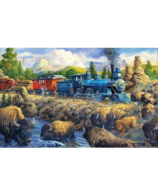 Puzzle SunsOut - Joseph Burgess: Delaying the Iron Horse, 550 piese (64044)