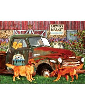 Puzzle SunsOut - Julie Bauknecht: Woody Acres, 1.000 piese (64289)