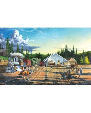 Puzzle SunsOut - Keith Brown: End of the Line, 550 piese (64106)
