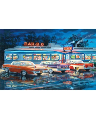 Puzzle SunsOut - Ken Zylla: Dining Out, 1.000 piese (64075)