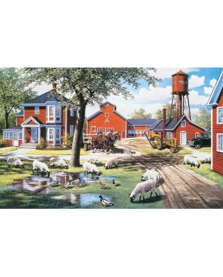 Puzzle SunsOut - Ken Zylla: Farmyard Companions, 550 piese (64070)