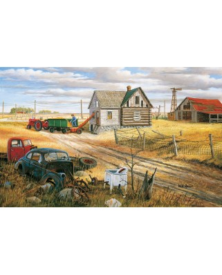 Puzzle SunsOut - Ken Zylla: Homestead and Corn Crib, 550 piese (64064)